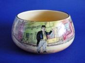 Royal Doulton 'Poor Jo, Cap'n Cuttle and Sam Weller' Dickens Ware Series 'A' Bulb Bowl D5175 c1932
